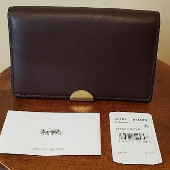 Coach Dreamer Card Case Leather NWT